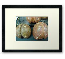 Ceramic Peaches Framed Print