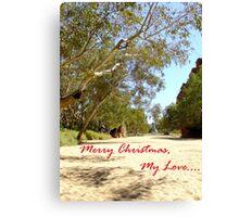 Australian Christmas Card Canvas Print