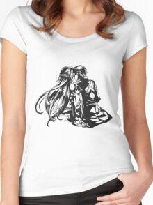 SAO - Asuna & Kirito Women's Fitted Scoop T-Shirt