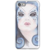 Blue Butterfly Girl iPhone Case/Skin