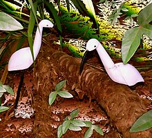 Egret abstract by ♥⊱ B. Randi Bailey