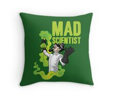 Mad Scientist T Shirt Throw Pillow