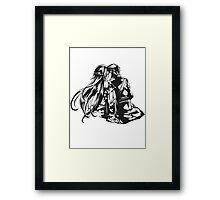 SAO - Asuna & Kirito Transparent Framed Print