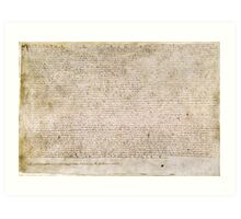 Magna Carta Exemplification of 1215 Cotton MS Augustus II Art Print