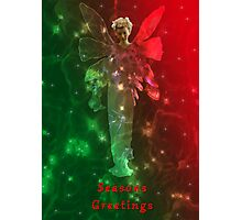 Angel christmas card Photographic Print