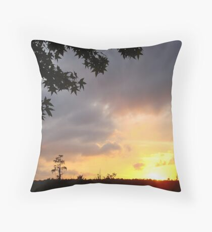 Watercolor Sunset Throw Pillow