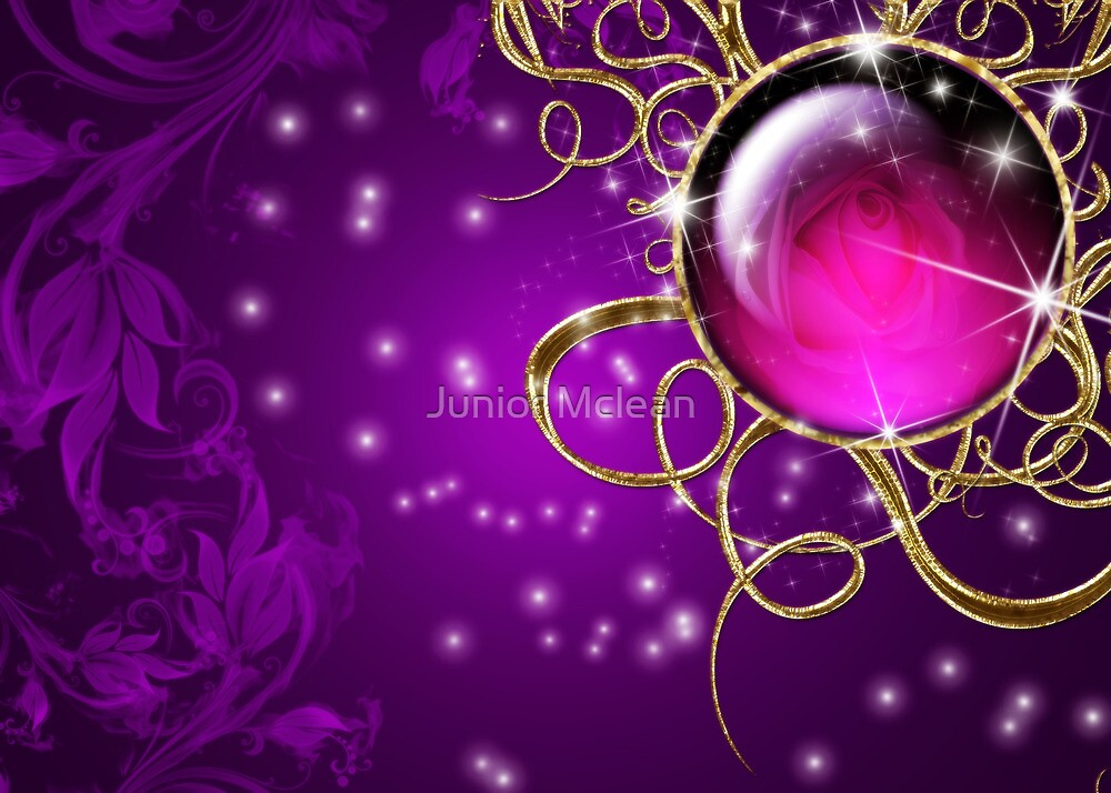 Purple Abstract Passion Jewel by Junior Mclean