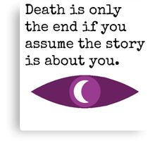 Welcome To Night Vale Death Design Canvas Print