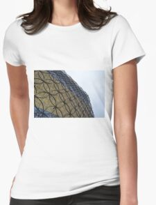 Silver And Golden Facade Of The Library Of Birmingham Womens Fitted T-Shirt