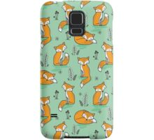 Dreamy Fox in Green Samsung Galaxy Case/Skin