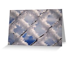 Snowy Fence Greeting Card