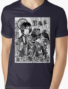 Black Butler Mens V-Neck T-Shirt