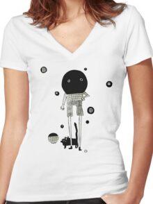 ballhead Women's Fitted V-Neck T-Shirt