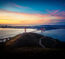 Golden Gate Bridge Sunrise by heyengel