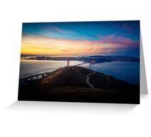 Golden Gate Bridge Sunrise Greeting Card