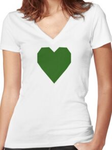 Lincoln Green  Women's Fitted V-Neck T-Shirt