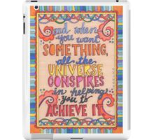 Paulo Ceulo - Illustrated Quote from the Alchemist iPad Case/Skin