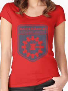 vintage Endurance stamped (dark print) Women's Fitted Scoop T-Shirt