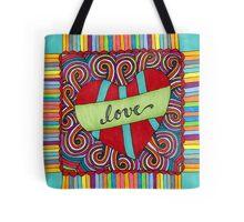 Zentangle Love Tote Bag