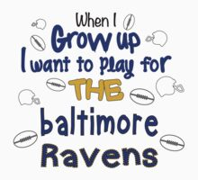 When I Grow Up... (Baltimore - Football) Kids Clothes