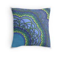 Blue Oceans of Zentangle Throw Pillow