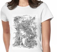 Gaia Dreams of Earth Womens Fitted T-Shirt