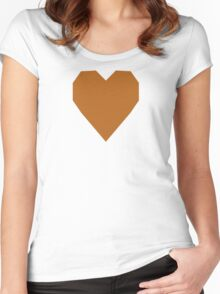 Light Brown  Women's Fitted Scoop T-Shirt