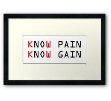 No Pain No Gain Motivational Workout Framed Print