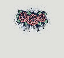 Grunge Roses with Splatters Unisex T-Shirt