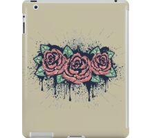 Grunge Roses with Splatters iPad Case/Skin