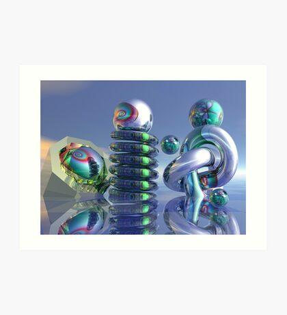 Glass sculptures Art Print