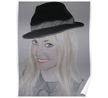 My daughter Sharon with her cheeky bowler hat Poster