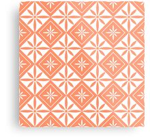 Coral 1950s Inspired Diamonds Metal Print