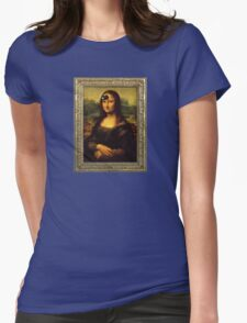 Mona Lisa Time Womens Fitted T-Shirt