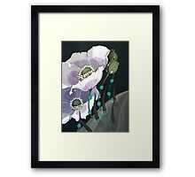 White Opium Poppies  Framed Print