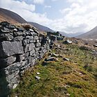 Crofter Ruin near Glenuaig Lodge, Scottish highlands by Michael Firkins