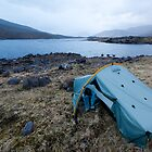 Wildcamp on Loch Monar, Scottish Highlands by Michael Firkins