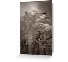Life on the Western Front 1916 Greeting Card
