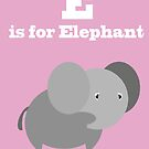 E is for Elephant. by Mrdoodleillust