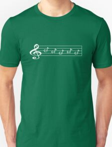 PAGAN  - Words in Music - V-Note Creations (white text) Unisex T-Shirt