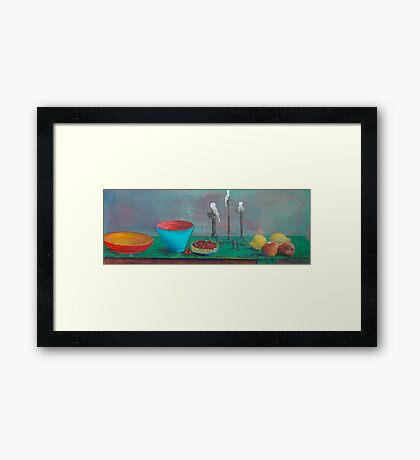The Green Table Framed Print
