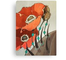 Red Opium Poppies Canvas Print