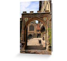 Norman Archway in Warwick Greeting Card