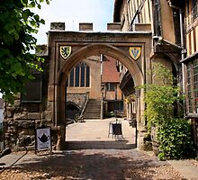 Norman Arched Gateway in Warwick by Chris L Smith