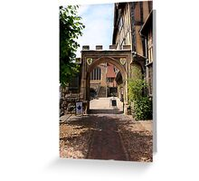 Norman Arched Gateway in Warwick Greeting Card