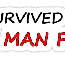 I survived Man Flu Sticker