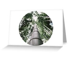 Round Bamboo Greeting Card