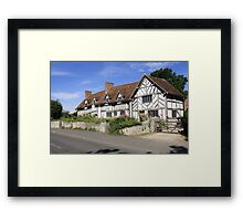 Mary Arden's House at Wilmcote Warwickshire Framed Print