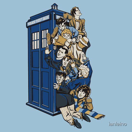 TShirtGifter presents: Who's Who - All 11 Dr Whos