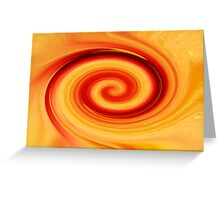 Red & Yellow Twirl Greeting Card